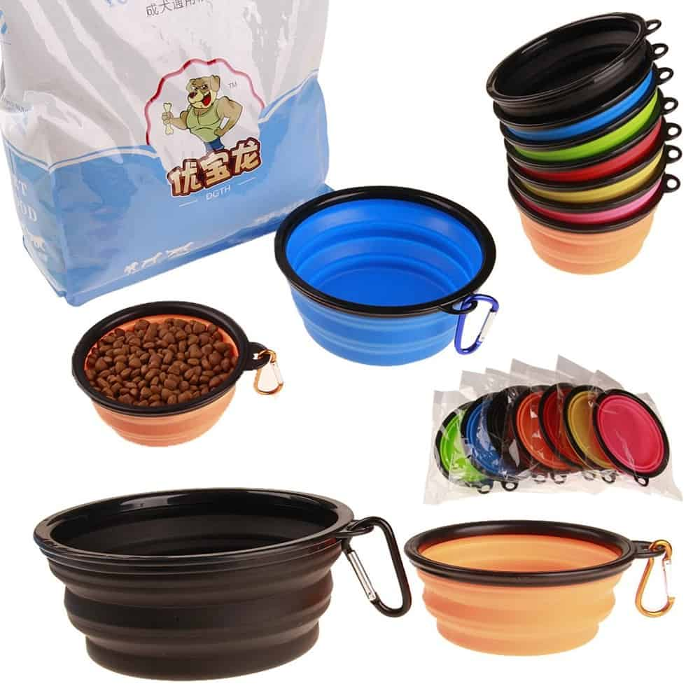 Dog Food Bowls: Collapsible Portable Dish